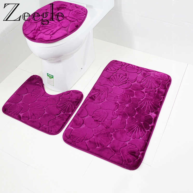 Household Doormat Non-slip Bathroom Shower Pedestal Rug Cover Bath Mat O3