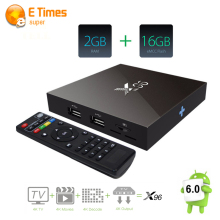 Android tv box 2 gb ram 16 gb rom Amlogic x96 S905X Android 6.0 malvavisco Quad Core 4 K Smart TV Caja WIFI Kodi H.265 HD Completo carga