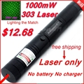 [ReadStar]RedStar303 High power 1W Red Laser pointer laser pen burn match star pattern cap without 18650 battery & charger