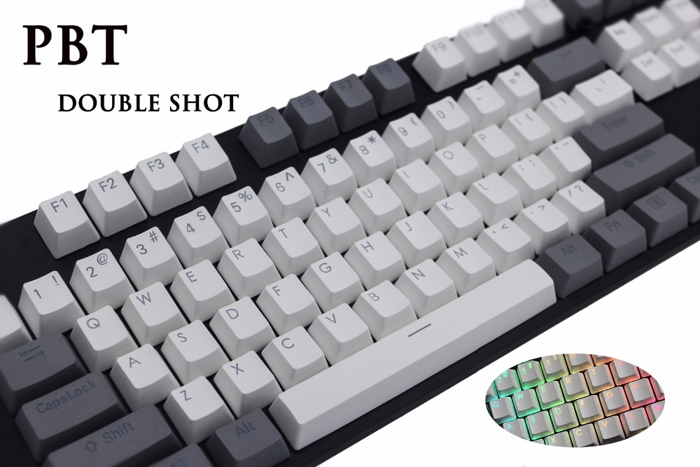 MP PBT Translucidus Backlit Double shot Wit en grijs Retro Keycap - Computerrandapparatuur - Foto 3