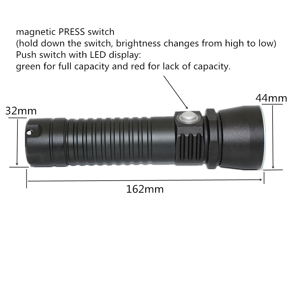 Underwater Diving LED Flashlight Waterproof LED Torch XM-L2 1200 Lumens Flash Light Lamp Torch diving 4000 lumens cree xm l2 led 3 l2 led t6 flashlight torch waterproof underwear lamp light super white light