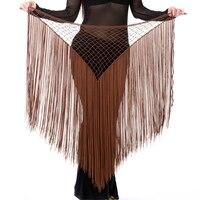 Argentina Style Abbigliamento Danza Del Ventre Accessori Pratica Elastico Lungo Nappa Cintura Triangolo Crochet della Mano Danza Del Ventre Hip Sciarpa