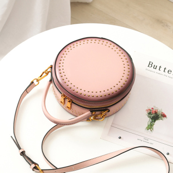 Round Women's Bags Handbag 2019 FCTOSSR Fashion Summer Female Hand Shoulder Bags Handmade Genuine Leather Party Ladies Bags