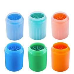 Собака приспособление для очистки лап чашки мягкого силикона расчески Портативный Pet очиститель лап чашки лапы чистой кисть быстро мыть