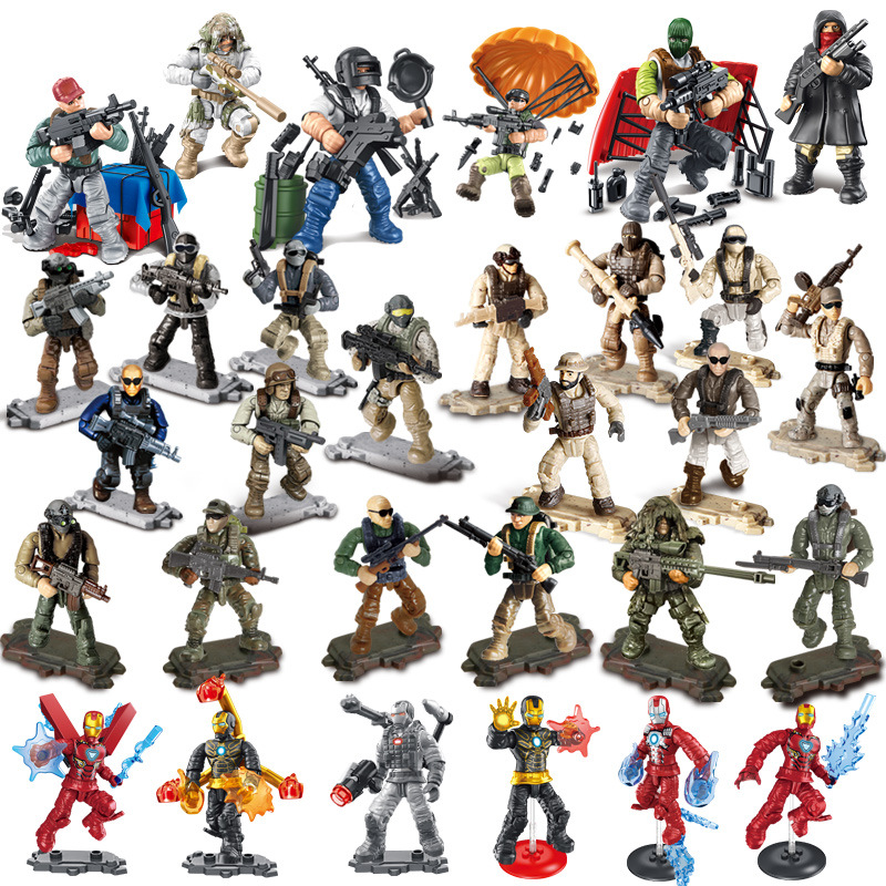 Compatible call of military duty mini SWAT soliders figures Army weapons guns sets model building blocks Model Dolls bricks kit image