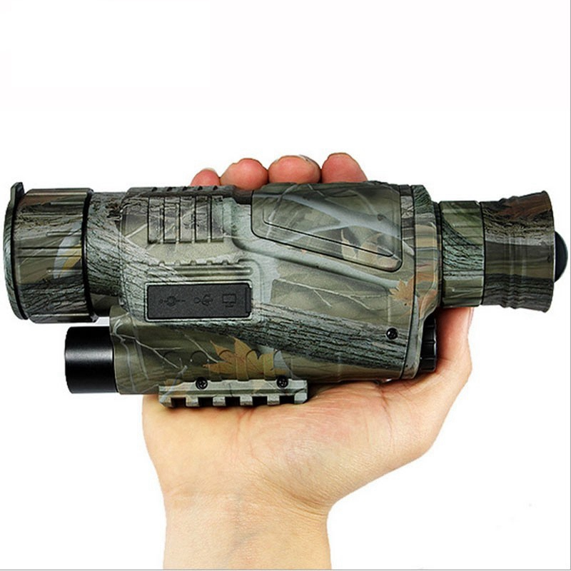 Hot Digital IR Infrared Night Vision Tactical Monocular Scope 200m 5X40 Zoom Record wg-50 snooper scope hunting Night Vision цена