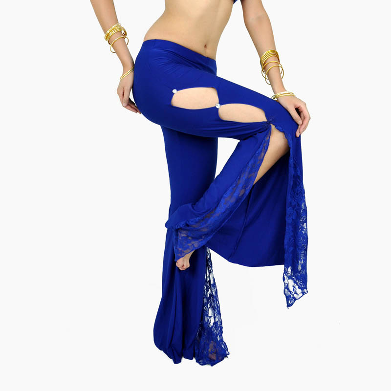 Sexy Lace Spandex Belly Oriental Dance Bellydance Costumes Pants For Women Indian Belly Dancing Clothes Flared Pants Clothing