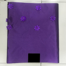Purple Flower african gele headtie wedding wrapper Nigerian HeadTie Sego Gele Ipele for African LXL-25-3