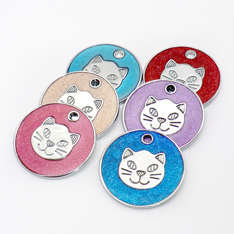 Wholesale 100Pcs Pet Dog Tags Blank Personalized Cat Puppy ID Name Collar Round Tag Collar Accessories