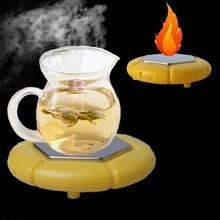 MEXI Creative Tea Coffee Hot Plates Pad Portable USB Drinking Cup Warmer Mat Home Office Kitchen Desktop Appliance Random Color