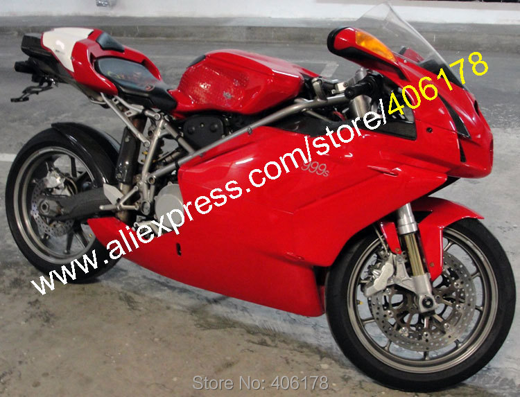 Hot Sales,Red White Body Kit For 2003 2004 Ducati Parts 749 999 03 04 Aftermarket ABS Motorcycle Fairing (Injection molding)
