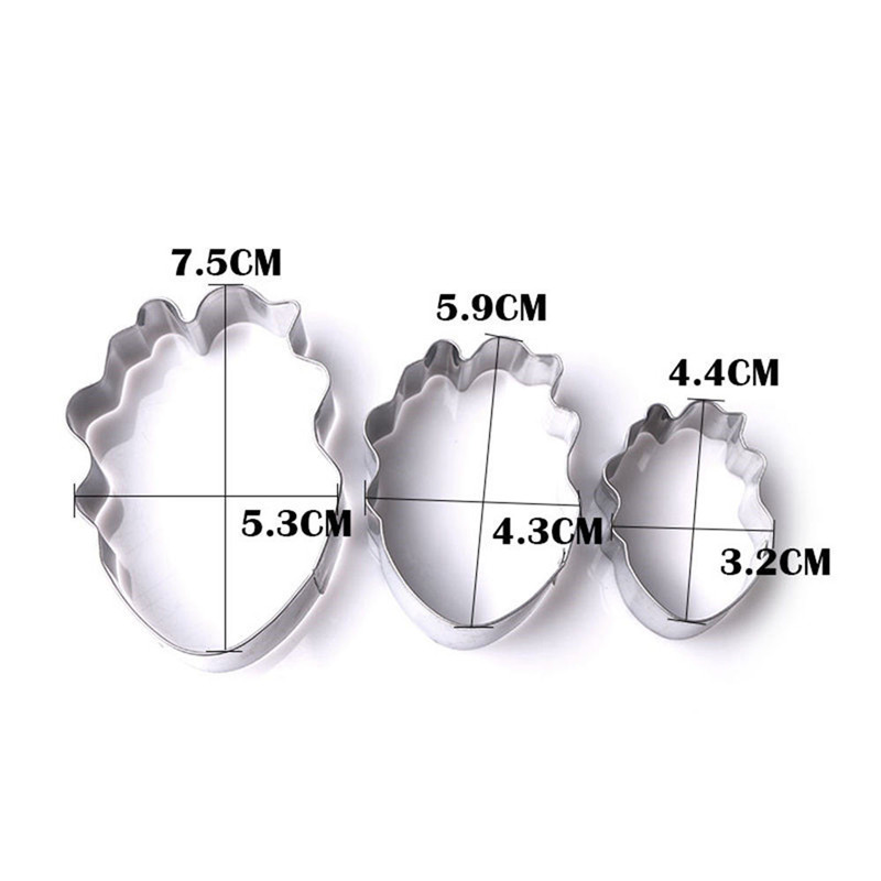 3PCS Tulip Petal Cookie Cutter Set Flower Cake Stainless Steel Moulds Decorating Tools Fondant Sugarcraft Cupcake Biscuit Molds in Baking Pastry Tools from Home Garden