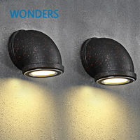 Die Amerikanische dorf korridor LED wandleuchte retro eisen rost rohr wand Nordic kreative persönlichkeit bar hotel markt dekor-in LED-Innenwandleuchten aus Licht & Beleuchtung bei