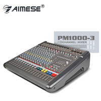 Power mate 1000 3 Professional audio Mixer console Music bar Top quality 48 volt phantom power 1000 watts * 2 power amplifier