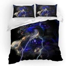 Gojira Dragon Bedding Set Duvet Covers Pillowcases Godzilla Home textile Comforter Sets Bedclothes Bed Linen Bedclothe