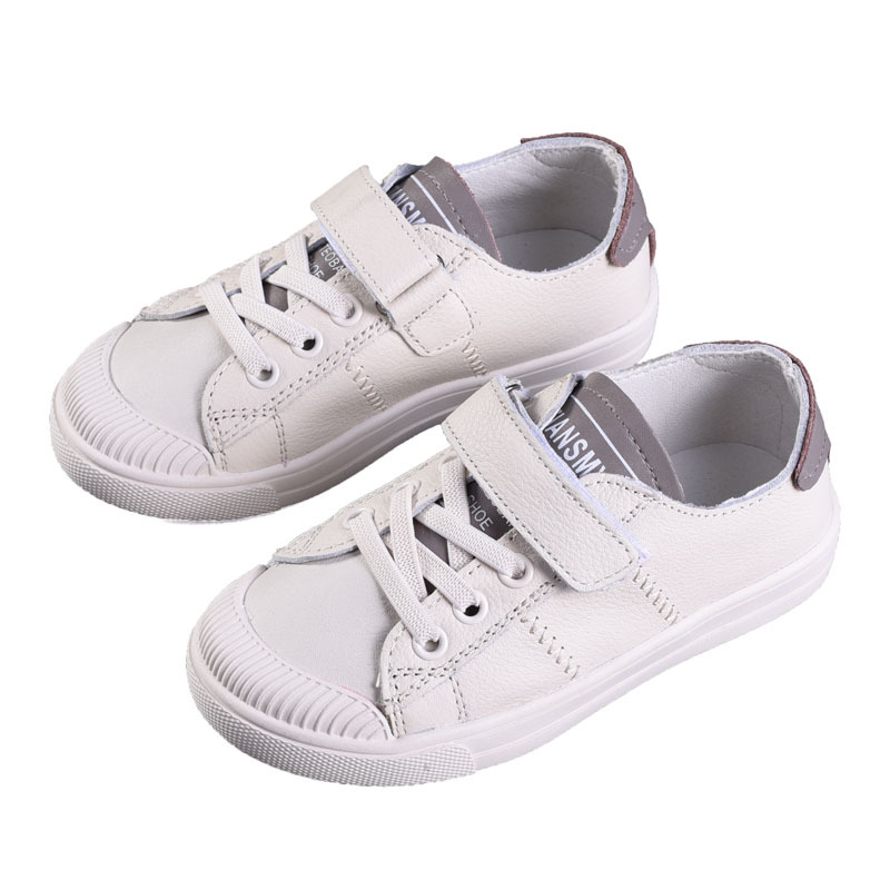 b21398b63da8f Girls Leather Breathable Flats Shoes Boys Soft School Training Sneakers  Kids Anti-Slip Lace Up Classic Fashion Shoes AA51237