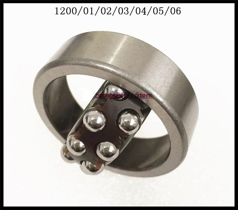 3pcs/Lot 1206 30x62x16 Self-aligning Ball Bearings Cylindrical Bore Double Row mochu 22213 22213ca 22213ca w33 65x120x31 53513 53513hk spherical roller bearings self aligning cylindrical bore