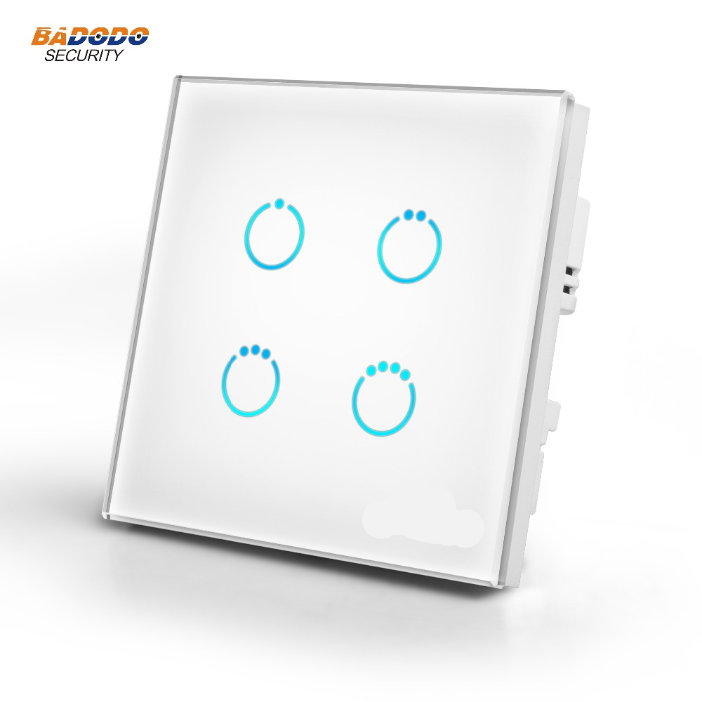 Z Wave Plus MCOHOME Touch Panel power Switch MH S314 EU868 42MHz 4 gang ON OFF