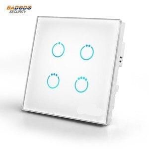 Image 1 - Z Sóng Plus MCOHOME Bảng Điều Khiển Cảm Ứng Công Tắc Nguồn MH S314 EU868.42MHz 4 Băng Đảng Vào Ngày/Tắt Công Tắc Đèn đèn Điều Khiển Động Cơ