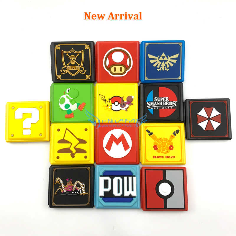 6 Kleuren 12in1 Voor Ns Game Card Case Opbergdoos Voor Nintend Schakelaar Game Sd Card Holder Carry Cartridge doos