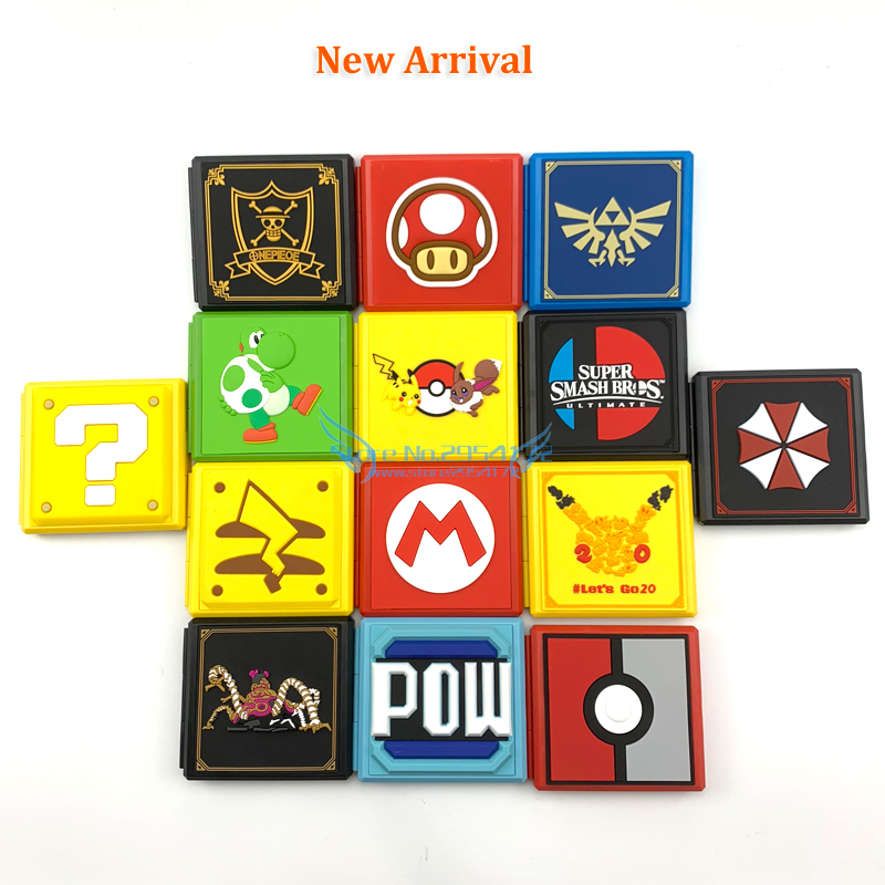 6 Colors 12in1 For NS Game Card Case Storage Box For Nintend Switch Game Memory SD Card Holder Carry Cartridge Box