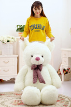 huge plush white bear toy new big lovely bow bear doll gift about 160cm