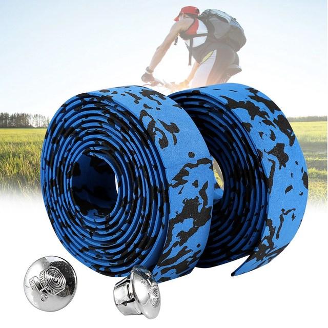Soft Foam Cycling Road Bike Bicycle Handlebar Tape Belt Reflective Grip Wrap Anti-Slip Anti-Sweat Strap With 2 Bar Plugs 4