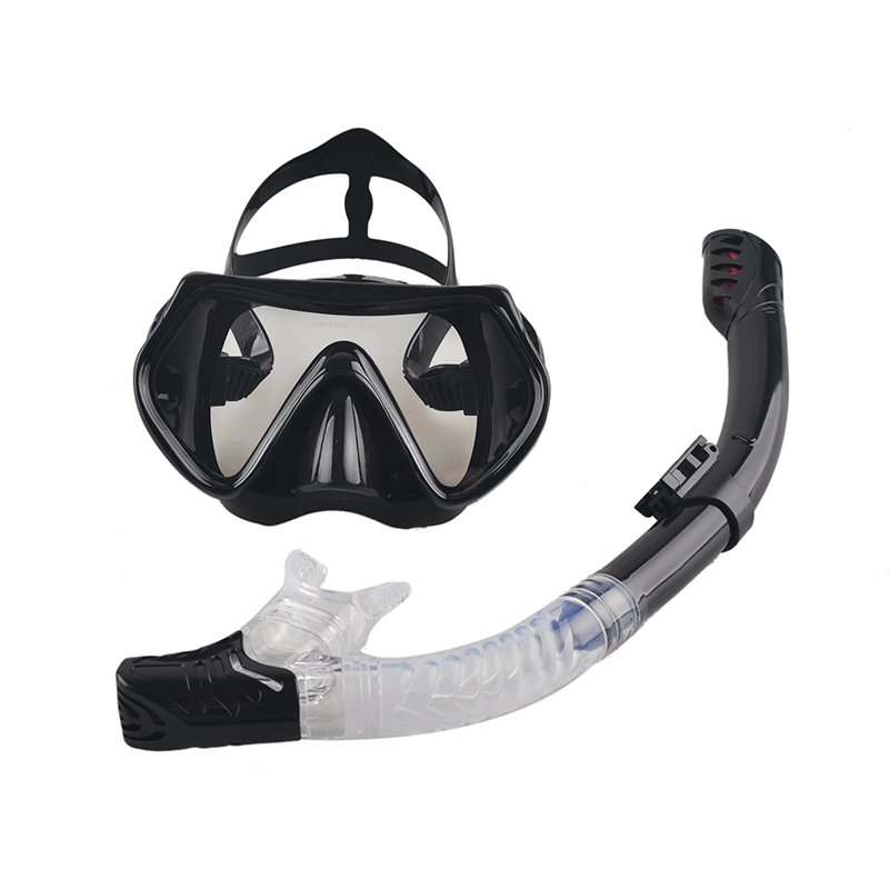 Professional Scuba Diving Mask Snorkel Anti-Fog Goggles Glasses Set Silicone Swimming Fishing Pool Equipment 6 Color