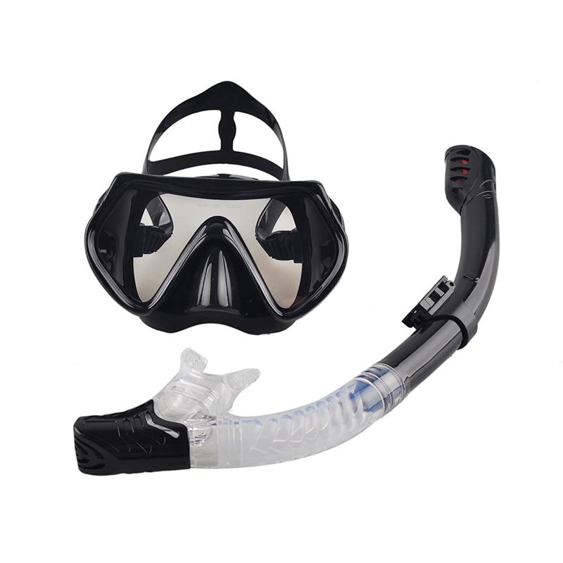 Profesionalus nardymo kaukė Snorkel Anti-Fog akiniai Akiniai nuo silikono plaukimo Žvejybos baseino įranga 6 Spalva