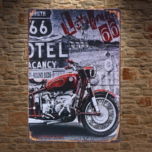 1 pc Motorcycle road 66 Indian rider  cocktail bar Tin Plate Sign wall plaques man cave Decoration Art Dropshipping Poster metal