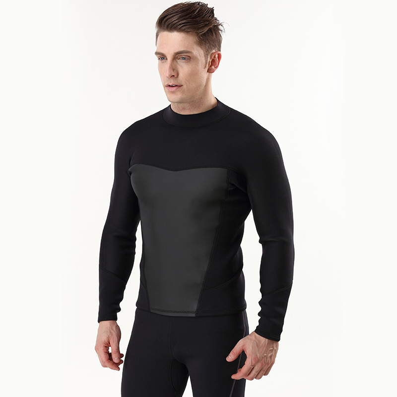 Plus Size 3MM Neoprene Diving Jacket for Men Warm Diving Surfing Costume Swimming Spearfishing Clothing Clothes