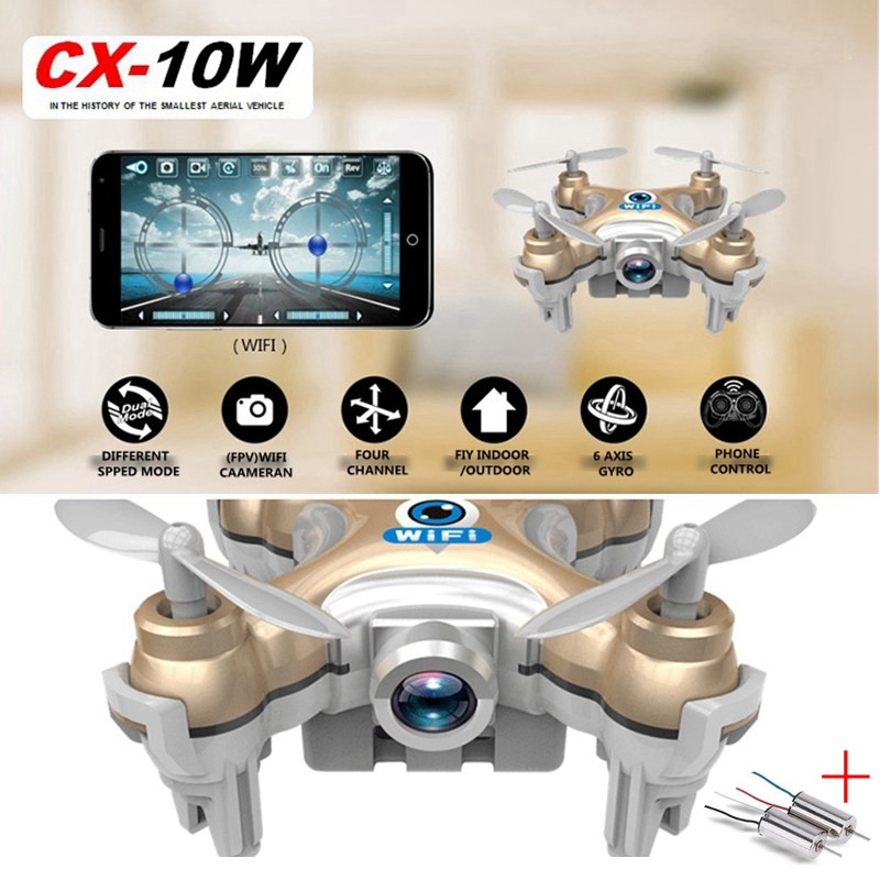 FPV Drones With Camera Cheerson Cx-10w Cx10wd Fpv Quadcopters Rc Helicopter Remote Control Toy For Kids Wifi Dron Mini Copters free shipping cheerson cx 22 rc drones 6 axis 5 8g fpv remote control quadcopter