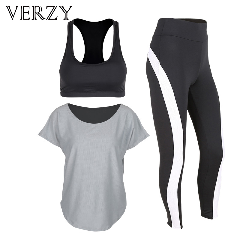 2017 New Black Women Yoga Set Workout Sportswear High Elasticity Gym Running Fitness Breathable Yoga Bra&Sport Leggings Outdoor 2017 women s yoga pants workout capri leggings running tights side pockets functional pattern patchwork sports leggings jnc2315