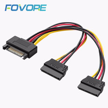 SATA Power Cable 15 PIN SATA Male interface to 2 15 PIN SATA Female interface Power Supply Cable 1 to 2 1 Male to 2 Female(China)