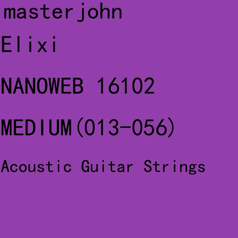 12 Sets of Elix NANOWEB/POLYWEB Acoustic Guitar Strings Anti-Rust Plain Steel&80/20 Bronze/Phosphor Bronze Custom Light Medium
