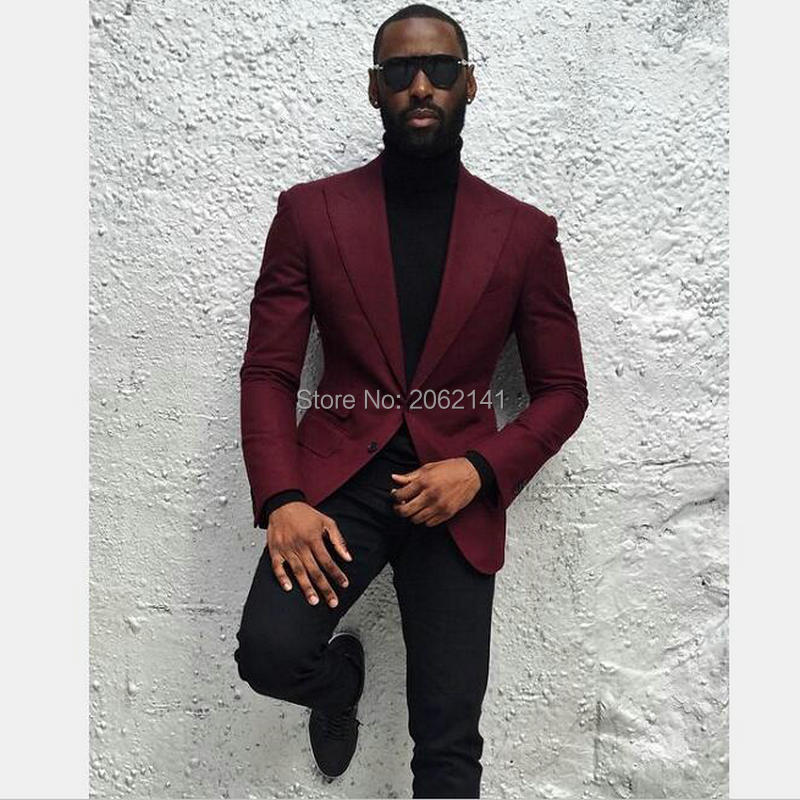 Dark Red Blazer Mens | Fashion Ql