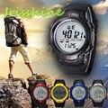 Irissshine #0105 homem relógios À Prova D' Água Esportes Ao Ar Livre Montanhismo Homens Digital LED Relógio de Pulso de Quartzo por atacado