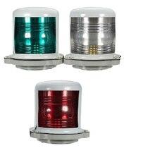 25 Вт 24 В светильник для морской лодки, яхты, навигации, 225 градусов, красный/зеленый/теплый белый