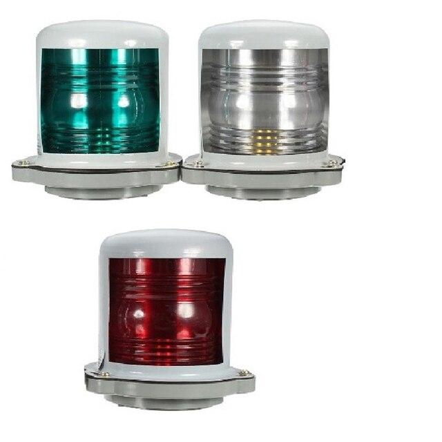 25W 24V Marine Boat Yacht Navigation Light 225 Degree Masthead Light Red/Green/Warm White