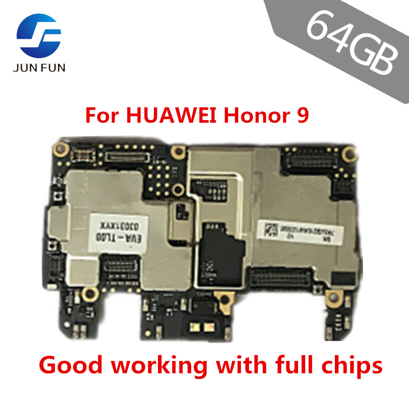 US $224 89 10% OFF|JUN FUN 6GB RAM 64GB ROM For HUAWEI Honor 9 STF AL10  Motherboard Unlocked Mainboard EMUI Logic Board With Full Chips-in Mobile