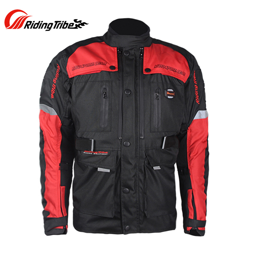Riding Tribe Motorcycle Jacket Motocross Off-Road Coat Windproof Jacket Moto Jacket with Protective Gear Moto Armor JK33 riding tribe men motocross off road racing jacket motorcycle windproof waterproof riding travel clothing with 5 protective gear