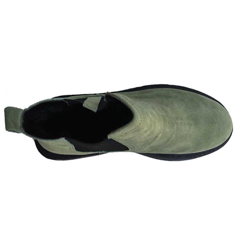 Yeni 2019 Kış Ayakkabı Kadın Chelsea Çizmeler Moda Bayan yarım çizmeler Kalın Peluş sıcak ayakkabı Sert Taban Artı Boyutu 41 ZH2487