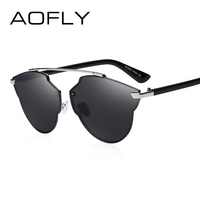 AOFLY Vintage Sunglasses Women Brand Designer Cat Eye Sun Glasses Female Fashion Women Luxury Decoration Classic