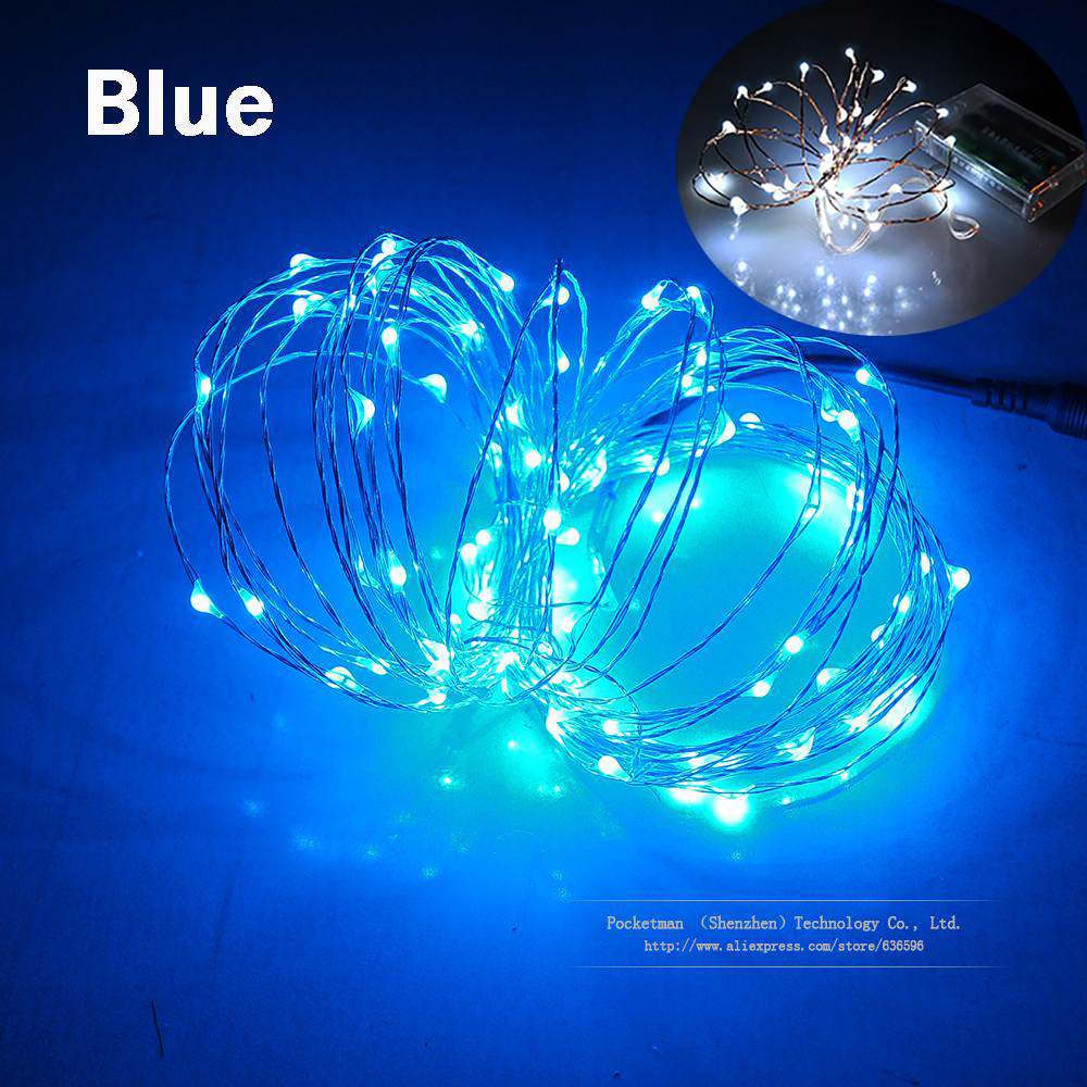 Colours LED Copper Wire Fairy String Light Christmas Holiday Wedding Party Decor
