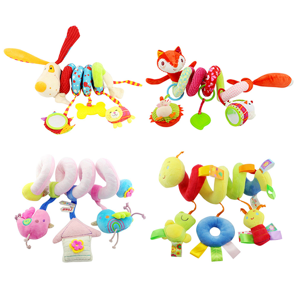 INT'G Soft Infant Crib Bed Stroller Toy Spiral Baby Toys For Newborns Car Seat Educational Rattle Baby Towel Education Toys