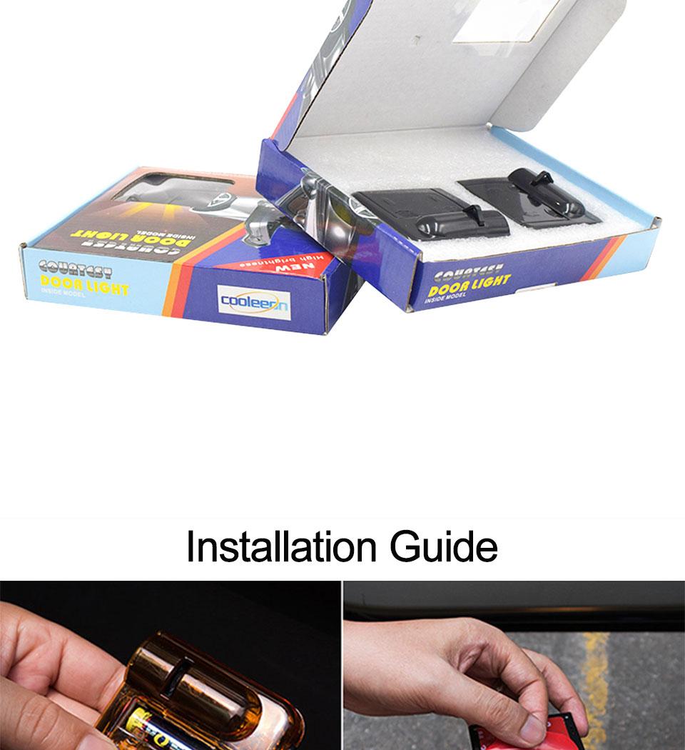 Battery Powered Cartoon Logo Batman LED Car Door Light 3D Laser Projector Lamp Auto Decoration Lighting Bulb Stick On Car (15)
