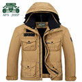 AFS JEEP Thickness Men's Water proof Jacket,Fleece Inner detachable Profession Hooded Coats,New Style New Fashion thick jackets