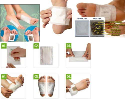 Foot Detox Patches/Pads Cleansing Body Toxins Slimming Herbal (20pcs=10pcs Patches+10pcs Adhesives) 6
