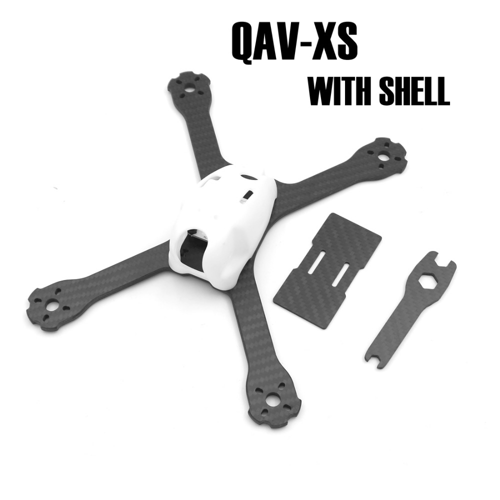 QAV-XSL Carbon Fiber 220 220mm Stretch-X with PC shell Quadcopter Frame Kit 4mm Arm + PDB Board for FPV Racing Drone QAV-X mini qav r 220 pure carbon fiber board 220mm 220 quadcopter frame kit 4mm arm for qav r 220 racing drone diy rc through fpv