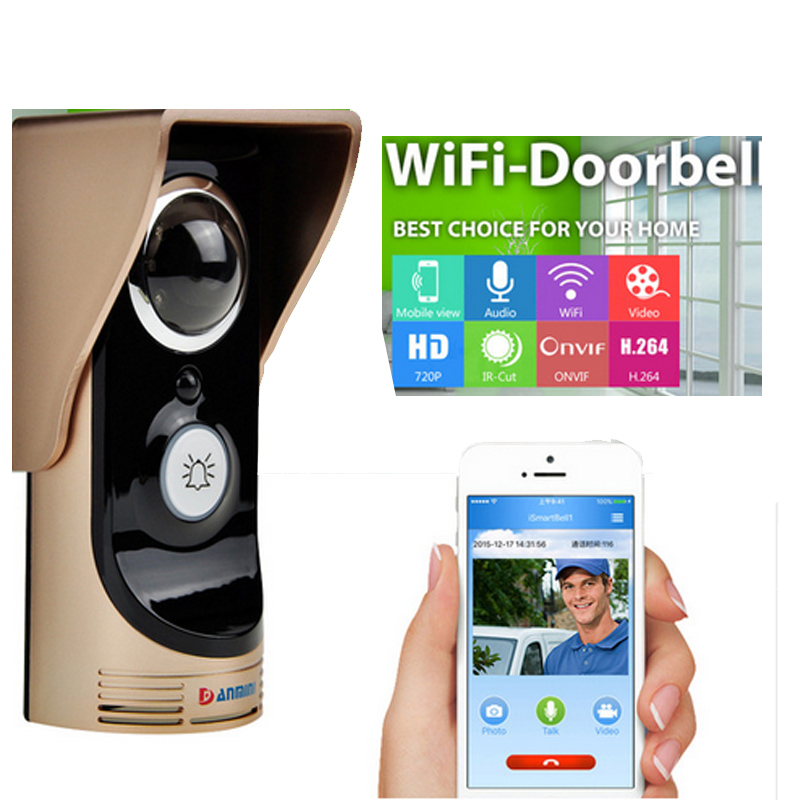 HD 720P Wifi Doorbell Camera With Motion Detection IR Alarm Wireless Video Intercom Phone Control Door Phone For Andriod IOS&PC new door intercom ip doorbell with 720p camera video phone night vision ir motion detection alarm for ios android wifi doorbell